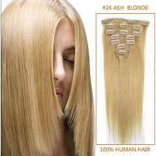 Indian Remy Human Hair Clip In Extensions by Inch Straight Clip In Human Remy Hair Extensions 24 Light Golden
