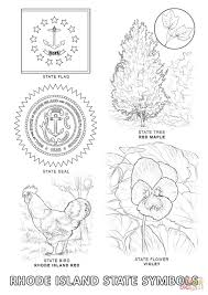 Maple Tree Symbolism by Rhode Island State Symbols Coloring Page Free Printable Coloring