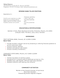 sample experience resume sample resume for bank teller position no experience frizzigame bank teller resume with no experience resume for your job