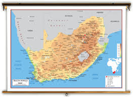 Physical Map Africa by South Africa Physical Educational Wall Map From Academia Maps
