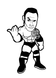 12 images of the rock wrestling coloring pages wwe john cena