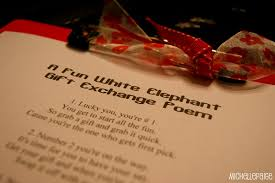 Halloween Party Poems Michelle Paige Blogs White Elephant Gift Exchange Poem