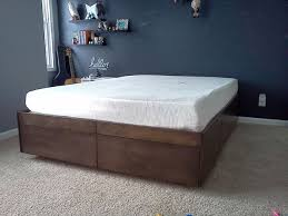 Woodworking Plans For A Platform Bed With Drawers by Platform Bed With Drawers 8 Steps With Pictures