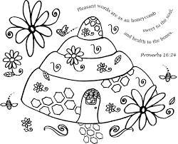 free coloring page words as a honeycomb u2013 bride of christ