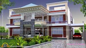 interesting indian house designs double floor front elevation sqft