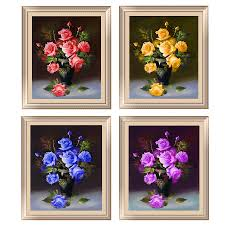 Flowers Home Decoration 5d Diamond Painting Diamond Embroidery Home Decoration Rose Round