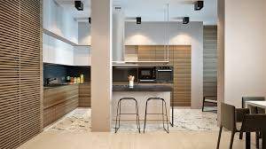 Wood Slat by Wood Slat Kitchen Interior Design Ideas
