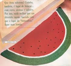 Fruit Rugs Gráfico Tapete Melancia Crochê Pinterest