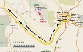 North Las Vegas Map by Airline Pilot U0026 Co Pilot See Strange Light To East While Inflight
