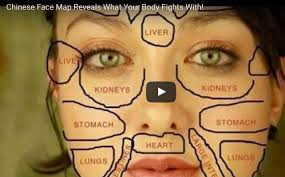 Belly Mapping Chinese Face Mapping Skin Analysis Chart Video Instructions