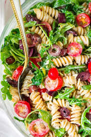 Pasta Salad Ingredients Arugula Pasta Salad With Goat Cheese And Tomato