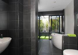 small bathroom with shower and tub for stall clipgoo black white