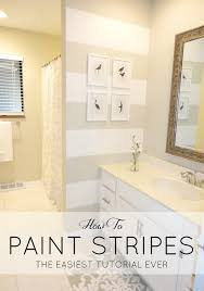Painting Bathroom by Livelovediy How To Paint Stripes The Easiest Tutorial Ever