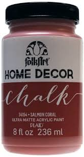 art home decor chalk 236ml salmon coral