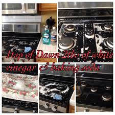 how to clean black range stove top mix 1tsp of dawn and 2 tbsp of