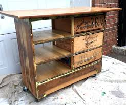 Kitchen Islands Carts by Ugly Dresser Turned Into Rustic Kitchen Island Cart 6 Steps With