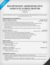 Sample Of Receptionist Resume by Resume Sample Hotel Receptionist Templates