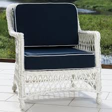 White Resin Wicker Outdoor Patio Furniture Set - everglades 7 piece white resin wicker patio deep seating set with