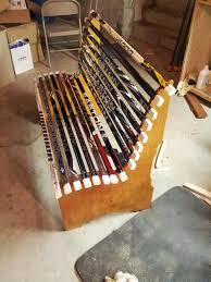 project broken hockey stick bench dan zehner art pinterest