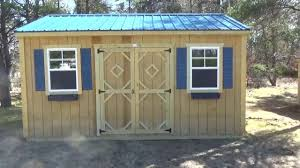 Smith Built Shed by New Wood Shop Delivered U0026 Building Work Bench Inside Youtube