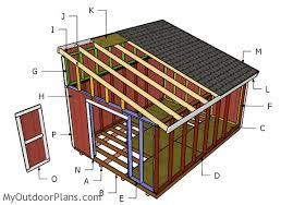 Diy 10x12 Shed Plans Free by Building A 12x16 Lean To Shed Outdoor Shed Plans Free