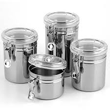 Stainless Steel Canisters Kitchen Snagshout 5 Piece Stainless Steel Canister Set W Clamp Lids