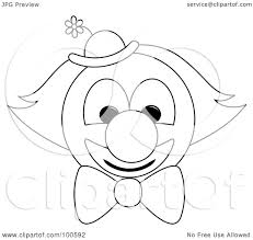 royalty free rf clipart illustration of a clown face with orange