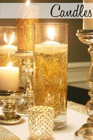 Silver Centerpieces For Table Floating Candles In A Hurricane Candle Holder For Wedding Table