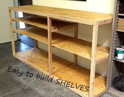 Build Wood Garage Shelves by Diy Shop Or Garage Shelf For Storage And Organization Kreg Pocket