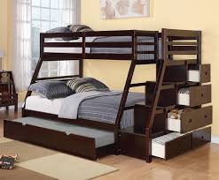 Viv Rae Reece Twin Over Full Bunk Bed With Storage Ladder And - Ladder for bunk bed