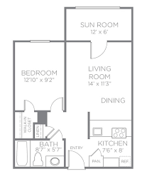 Sunroom Floor Plans by Floor Plans U0026 Pricing Abbotswood At Irving Park