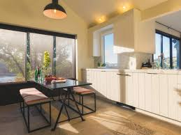 fabulous all cherry wooden kitchen design featuring shaped interesting warm kitchen design with white modular cabinet combined stylish eat