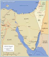 Map Egypt Political Map Of Sinai Peninsula Nations Online Project