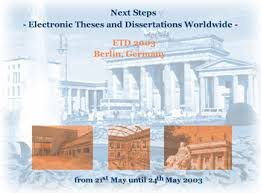 Electronic Theses and Dissertations Worldwide  Highlights of the     D Lib Magazine Conference web site image for ETD