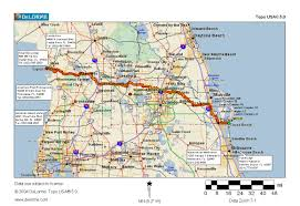 Palm Island Florida Map by Cycling Routes Crossing Florida