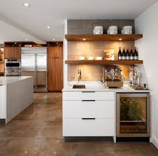Minimalist Kitchen Cabinets by Amazing Contemporary Kitchen Shelves Design Decorated With