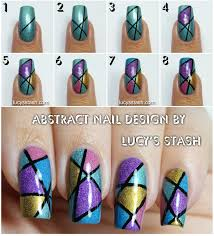abstract nail art design tutorial abstract holo nail art design