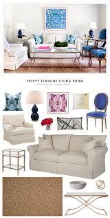 Feminine Living Room by Copy Cat Chic Room Redo Preppy Feminine Living Room Copycatchic