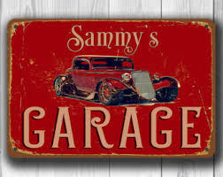 Personalized Signs For Home Decorating Garage Sign Etsy
