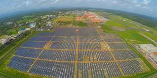 this indian airport runs entirely on solar power