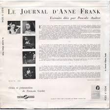 PASCALE AUDRET   Anne Frank Le Journal d     Anne Frank  extraits