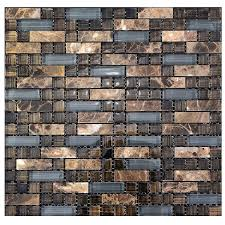 Wall Tiles Kitchen Backsplash by Brown And Grey Stone Glass Tile Kitchen Backsplash Mosaic Wall