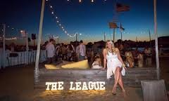 Amanda Bradford  the founder of the League  in Hamptons at a League party  Photograph  Travis W Keyes The League