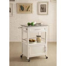 Kitchen Cart With Storage by Mitchell Kitchen Cart With Granite Top White Finish Walmart Com