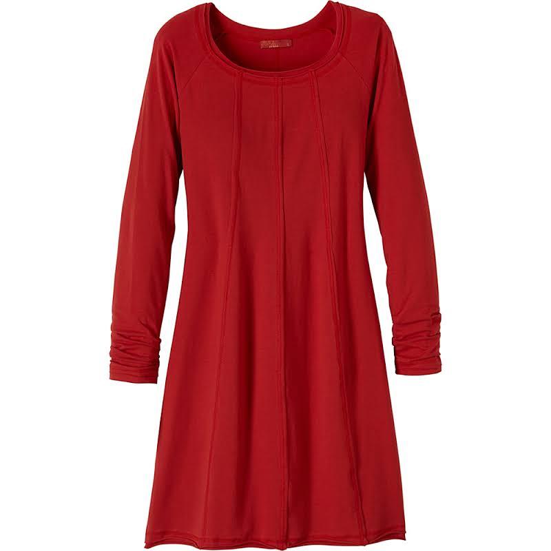 prAna Chrissa Dress -Sunwashed Red-Large