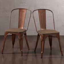 amazon com tabouret brushed copper wood seat bistro chairs set