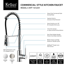 Danze Kitchen Faucets Reviews Kraus Kpf 1612 Single Lever Pull Down Kitchen Faucet Review