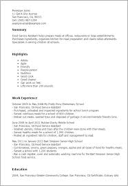 Professional Food Service Assistant Templates to Showcase Your     My Perfect Resume Resume Templates  Food Service Assistant