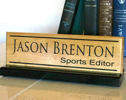 Custom Desk Name Plates by Desk Name Plate Personalized Desk Name Sign Door Name Plate