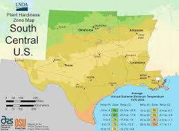 Time Zone Map Usa With Cities by South Central Us Plant Hardiness Zone Map U2022 Mapsof Net
